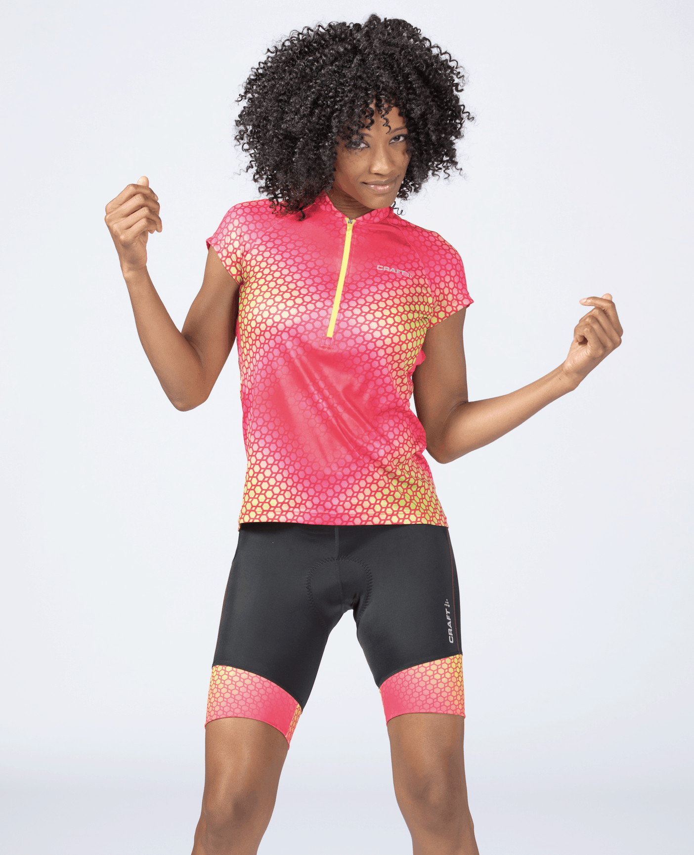 Craft Velo Jersey + Short in Geo Pop