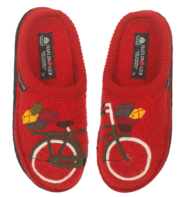 Haflinger bicycle slippers - a MUST