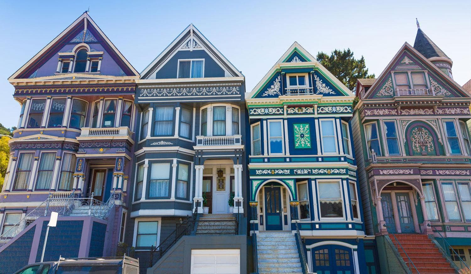 Victorians, San Francisco, courtesy Bay City Guide