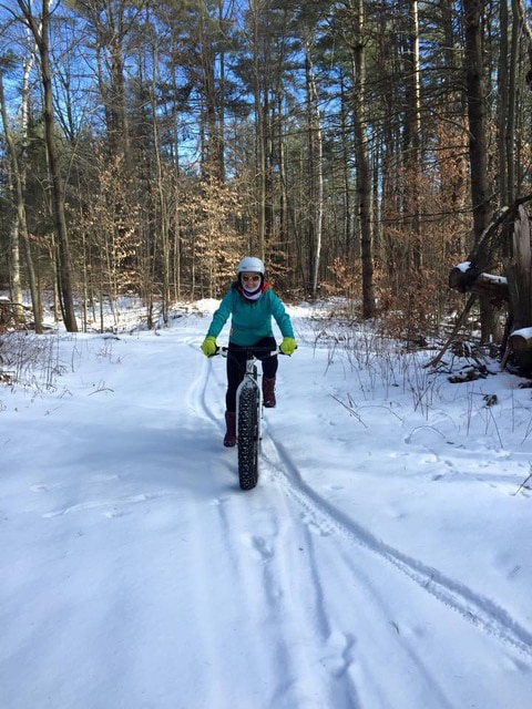 Terry Bicycles staff find a great way to burn some winter calories on a Fat Bike