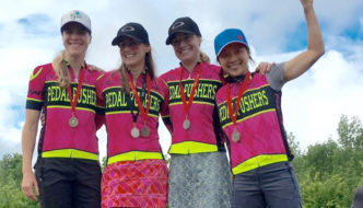 WOMEN SWEEP MOUNTAIN BIKE RELAY FOR A GREAT CAUSE.