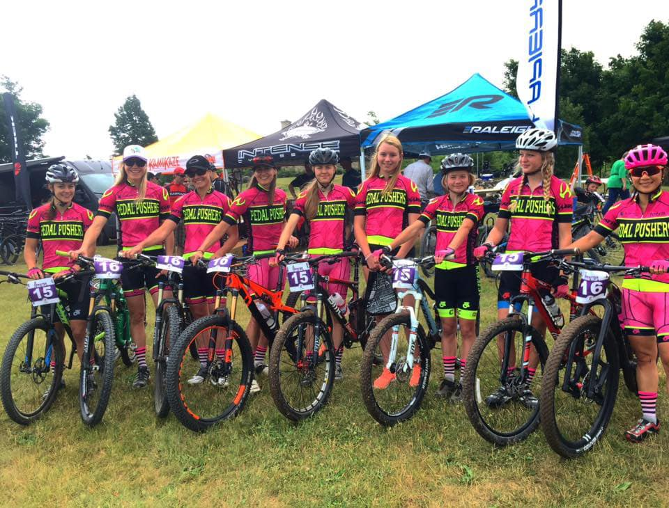 pedalpushers mountain bike Gibraltar 6 hours relay teams together