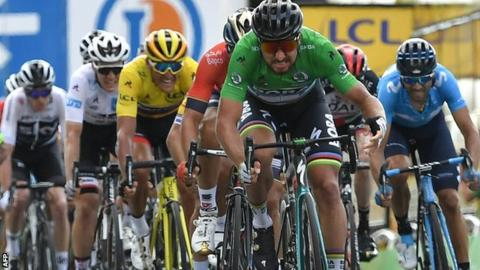 Peter Sagan winning a sprint finish stage - how to win the Tour de France