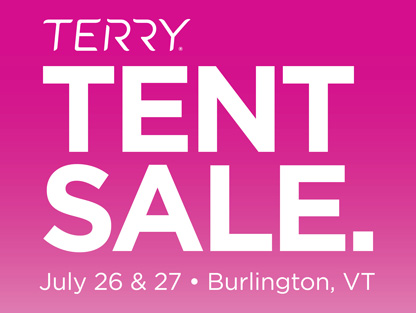 TERRY TENT SALE – JULY 2018