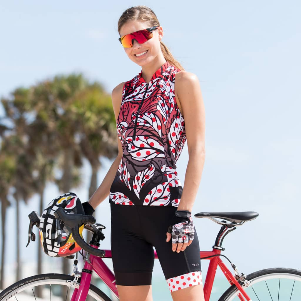 Terry Sun Goddess Bike Jersey in Painted Ladies of the Tour - location
