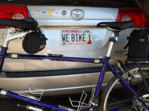 flucke-tandem and license plate webike1 with Terry Bicycle Seat