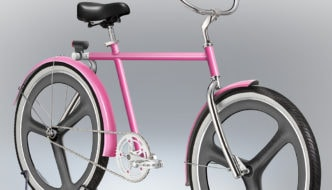 Velocipedia pink bike rendition