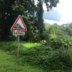 Tahiti tandem tour - 30% grade sign - be warned