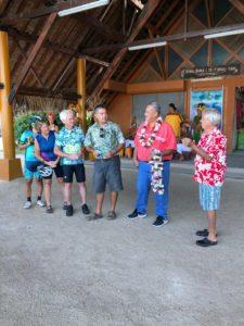 Tahiti tandem tour - Bora Bora Mayor welcoming us