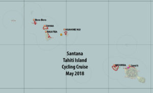 Tahiti tandem tour - Our Polynesian Island tour routes