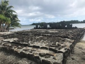 Tahiti tandem tour - Ruins of a marae, an ancient Polynesian ceremonial structure