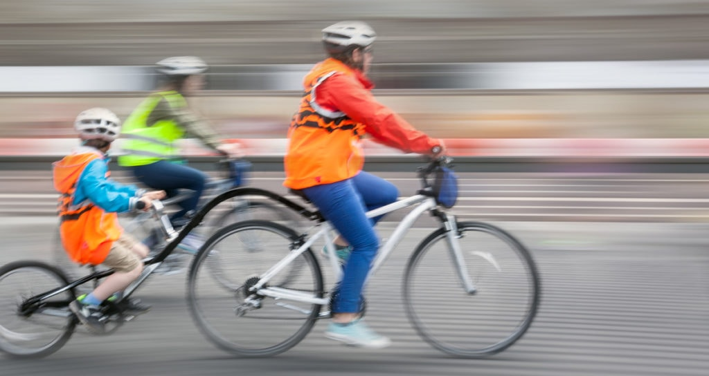 fluroescent gear for cycling visibility