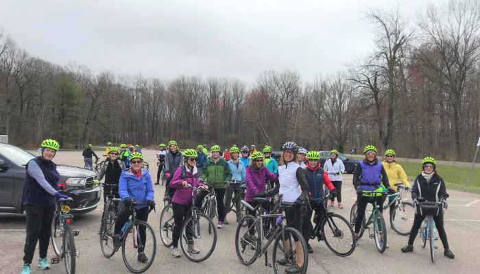 Women's Wellness Revolution Program particiapnts gathered at Leddy Park Burlington