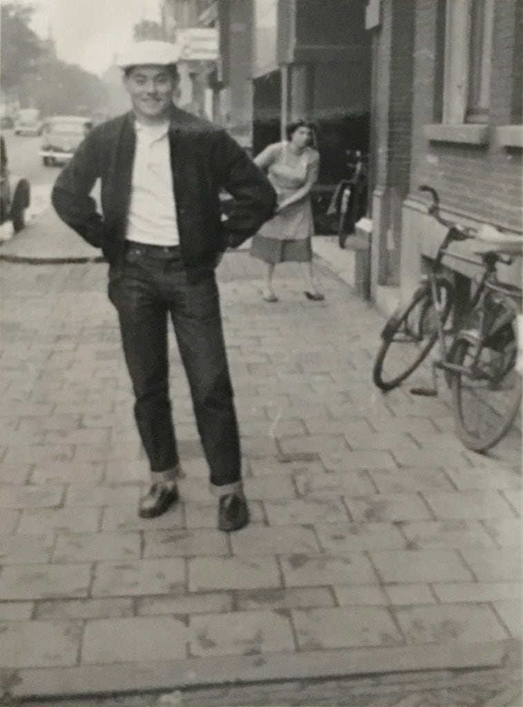 Celebrating cycling dads on father's day – Photo of Paula D's dad on leave in Italy during WWII
