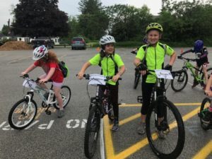gritty girls on mountain bikes wearing their new Terry cycling gear