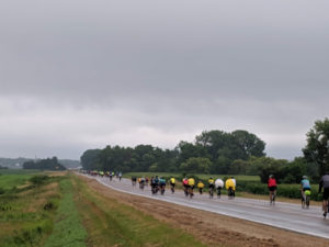 RAGBRAI 2019 started with rain and storms, which didn't slow down the thousands of participating cyclists