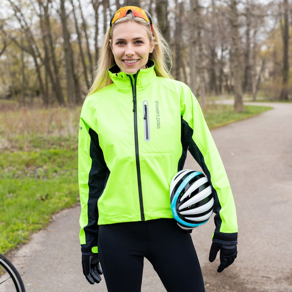 Fall Cycling Gear: Showers Pass Hi Visibility Elite Jacket