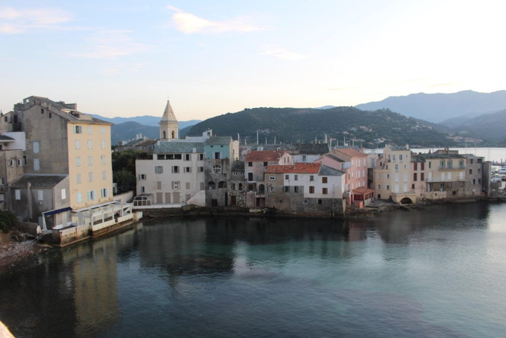 View of St Florent, Corsica