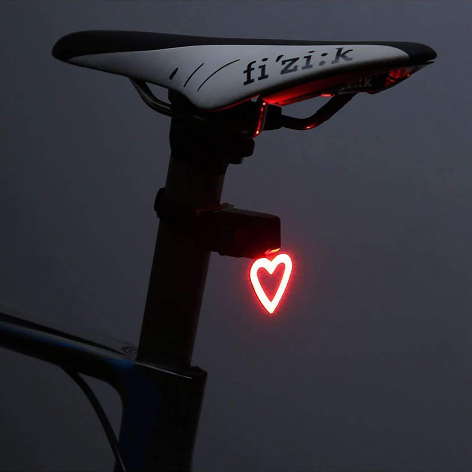 Practical but fun cycling gift idea - heart shaped led bike light